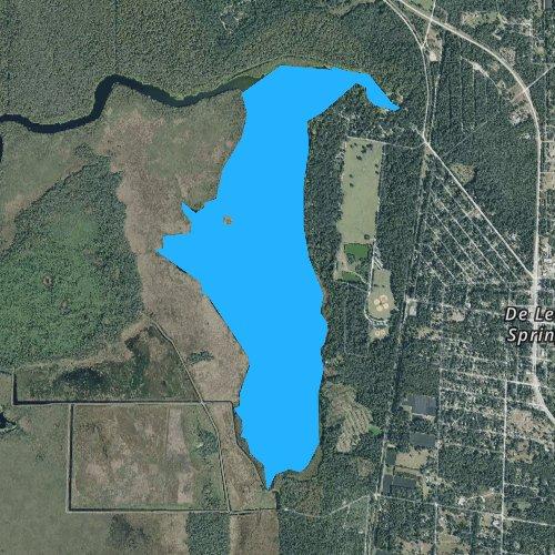 Fly fishing map for Spring Garden Lake, Florida