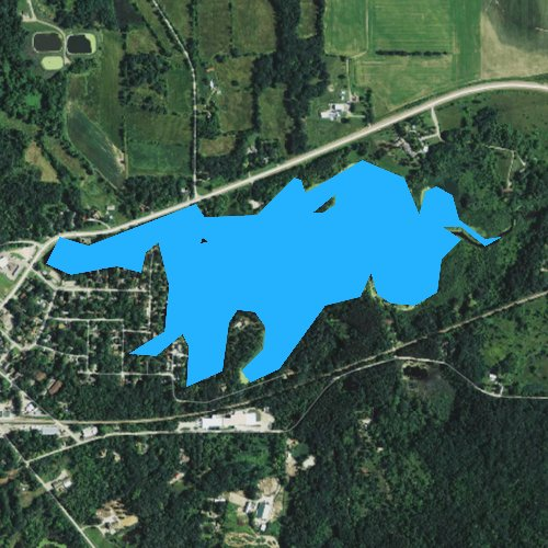 Fly fishing map for Spring Lake 38, Wisconsin