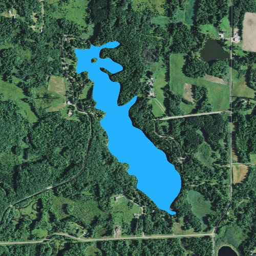 Fly fishing map for Spring Lake: Barron, Wisconsin