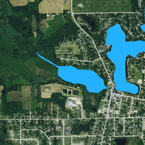 Fly fishing map for Spring Lake: Columbia, Wisconsin