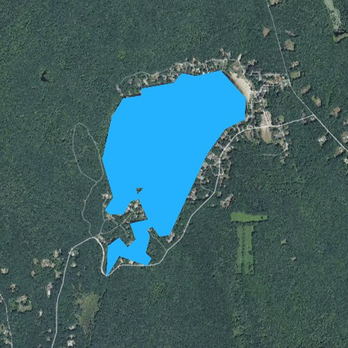 Fly fishing map for Spring Lake, Rhode Island