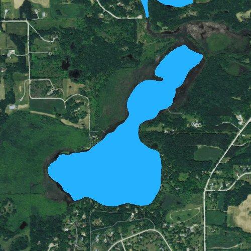 Fly fishing map for Spring Lake: Waukesha, Wisconsin