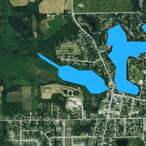 Fly fishing map for Spring Lake, Wisconsin