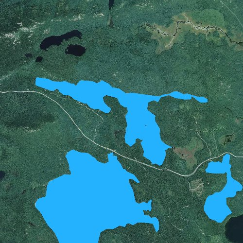 Fly fishing map for Spring River Lake, Maine