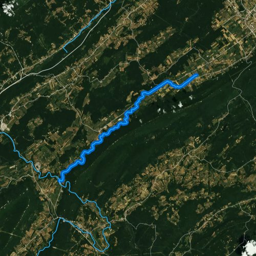 Fly fishing map for Spruce Creek, Pennsylvania