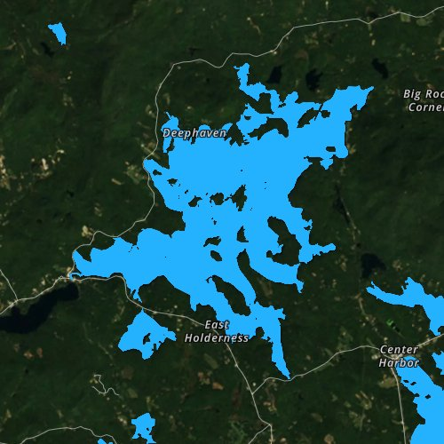 Fly fishing map for Squam Lake, New Hampshire