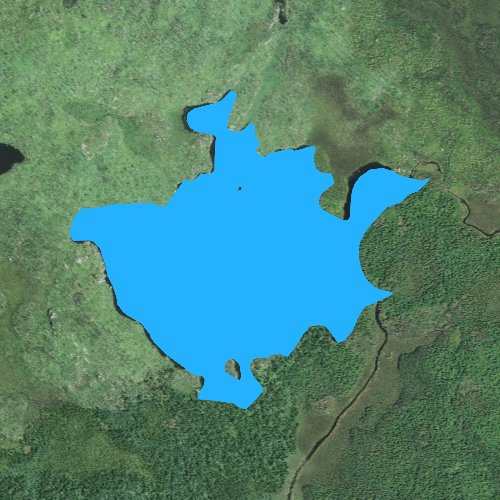 Fly fishing map for Square Lake: Lake, Minnesota
