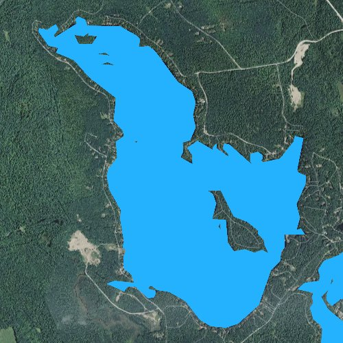 Fly fishing map for Square Pond, Maine