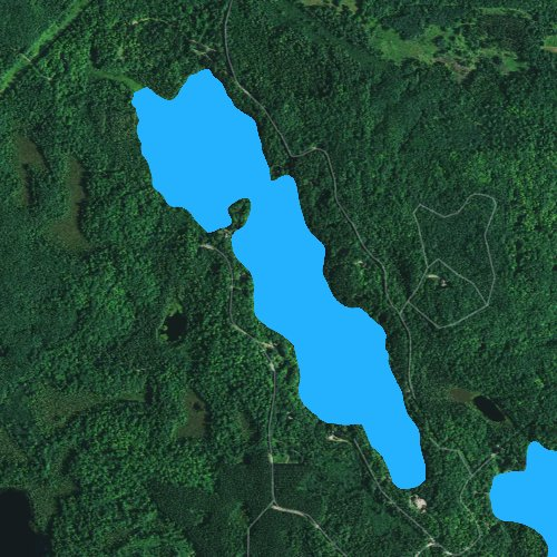 Fly fishing map for Squaw Lake: Lincoln, Wisconsin