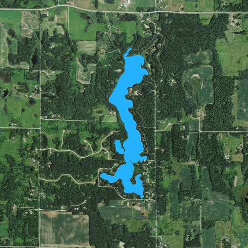 Fly fishing map for Squaw Lake: St. Croix, Wisconsin