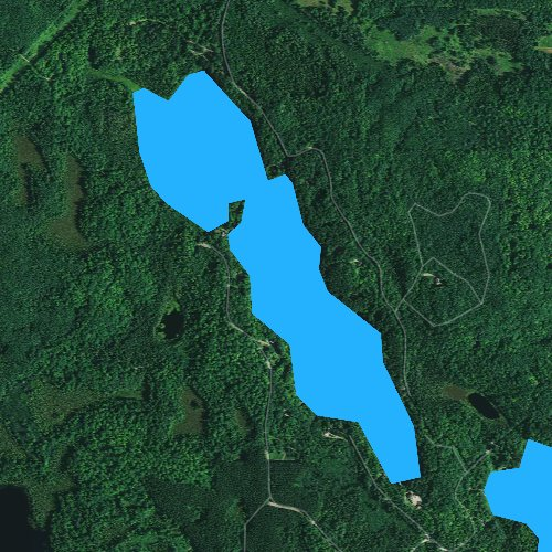 Fly fishing map for Squaw Lake, Wisconsin