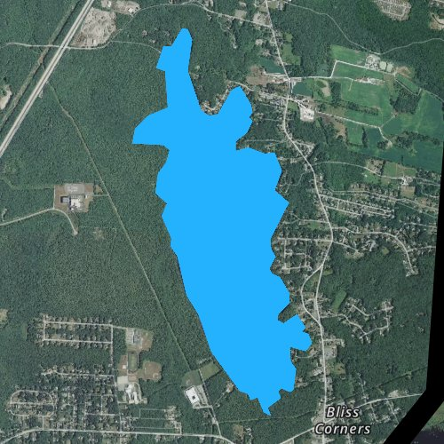 Fly fishing map for Stafford Pond, Rhode Island