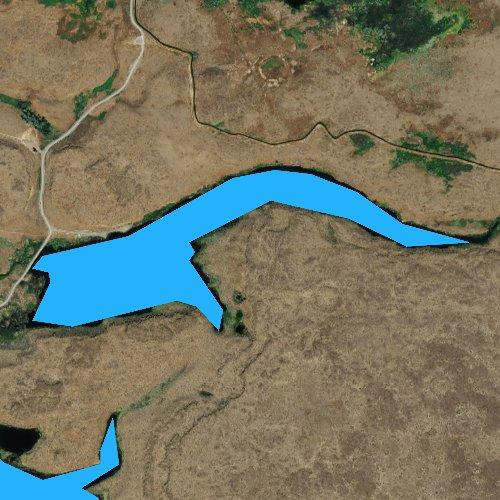 Fly fishing map for Stan Coffin Lake, Washington