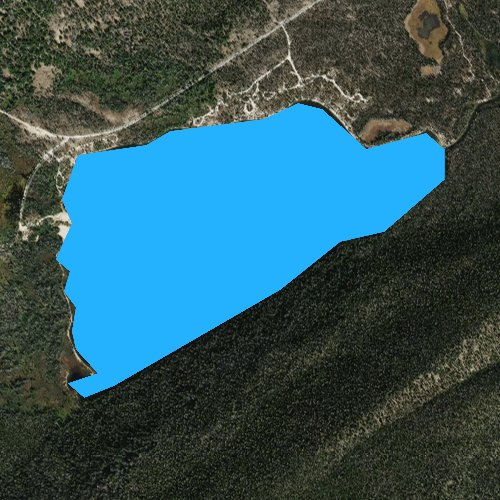 Fly fishing map for Stanley Lake, Idaho