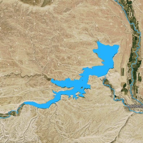 Fly fishing map for Starvation Reservoir, Utah