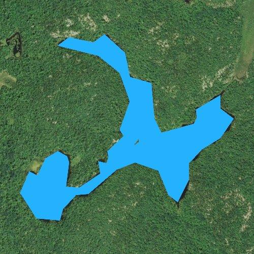 Fly fishing map for Steep Lake, Minnesota