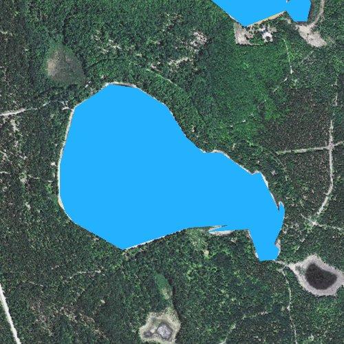 Fly fishing map for Steuben Lake, Michigan