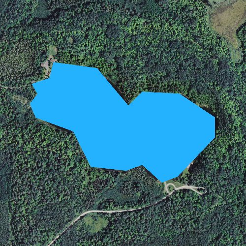 Fly fishing map for Steusser Lake, Michigan