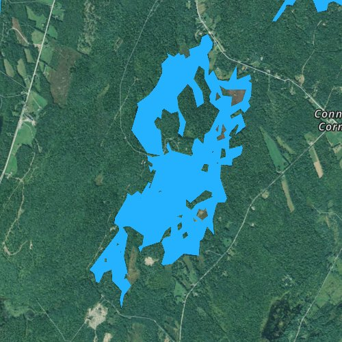 Fly fishing map for Stevens Pond, Maine