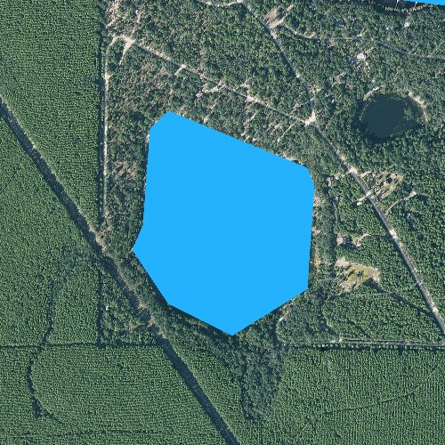Fly fishing map for Stewart Lake, Florida