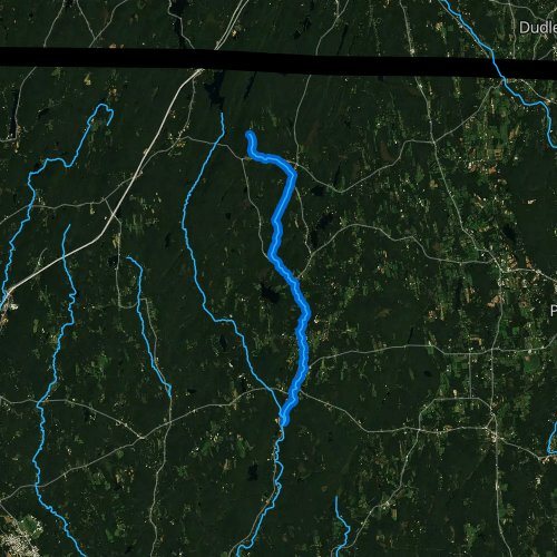 Fly fishing map for Still River, Connecticut