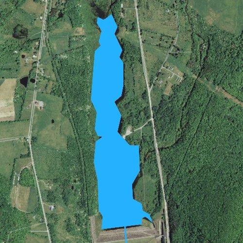 Fly fishing map for Stillwater Lake, Pennsylvania