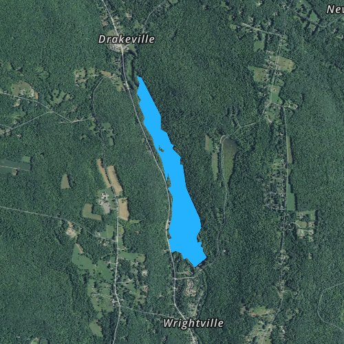 Fly fishing map for Stillwater Pond, Connecticut