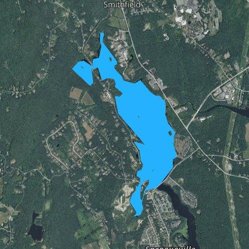 Fly fishing map for Stillwater Reservoir, Rhode Island