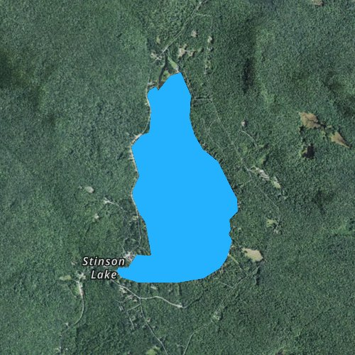 Fly fishing map for Stinson Lake, New Hampshire