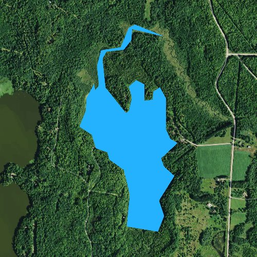 Fly fishing map for Stone Lake, Wisconsin