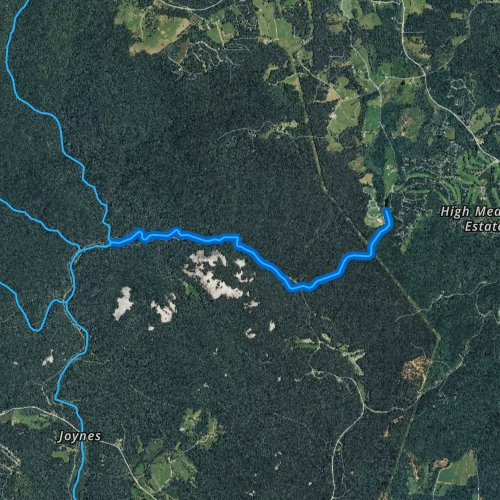 Fly fishing map for Stone Mountain Creek, North Carolina