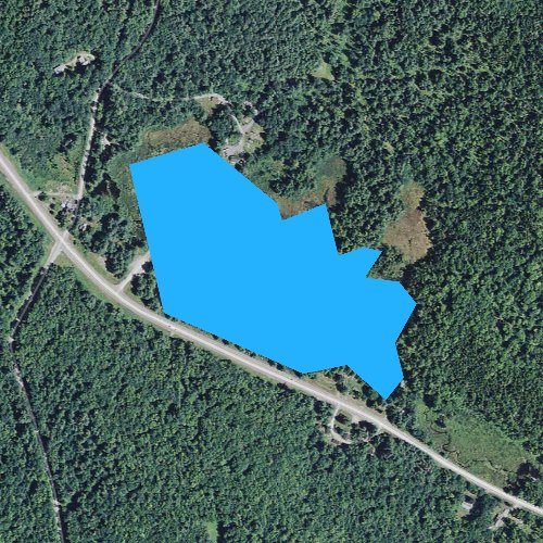 Fly fishing map for Stone Pond, New Hampshire