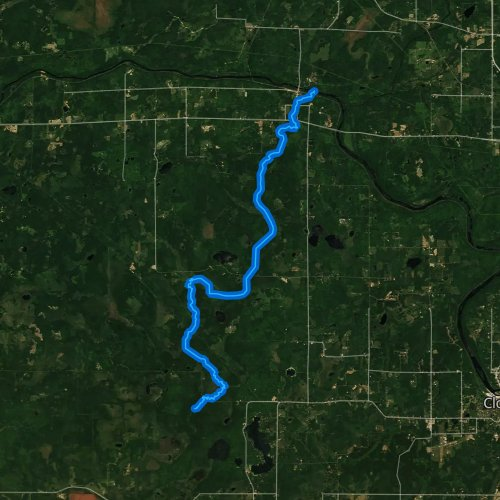 Fly fishing map for Stoney Brook, Minnesota