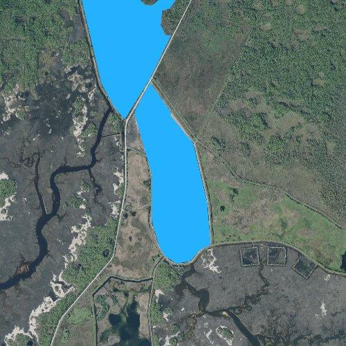 Fly fishing map for Stony Bayou Pool, Florida