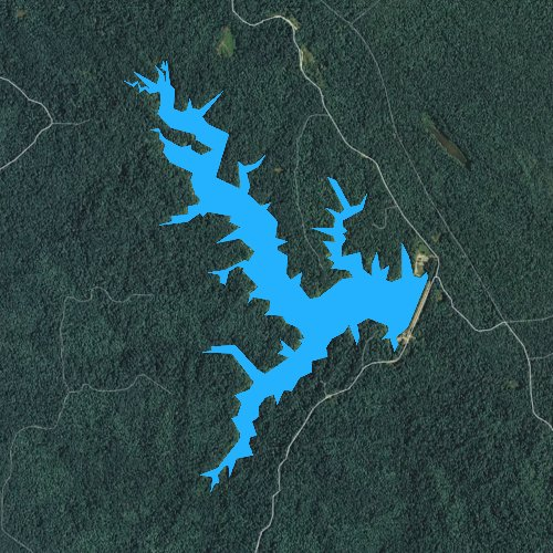 Fly fishing map for Storm Creek Lake, Arkansas