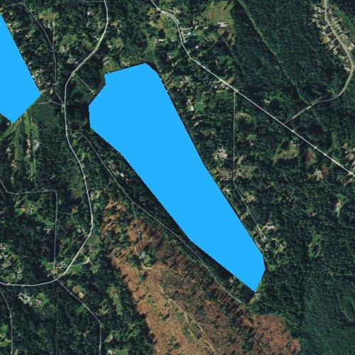 Fly fishing map for Storm Lake, Washington