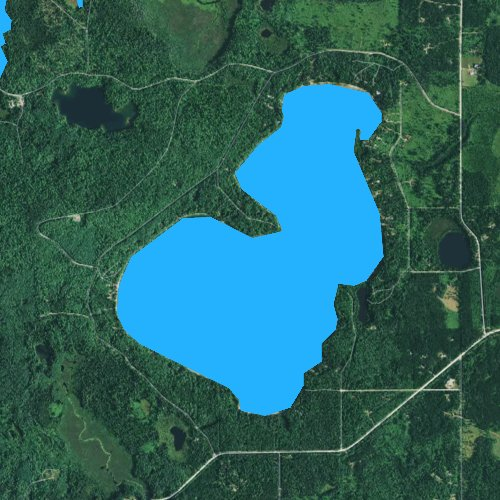 Fly fishing map for Stormy Lake, Wisconsin