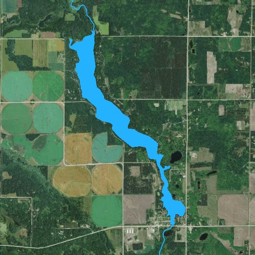 Fly fishing map for Straight Lake, Minnesota