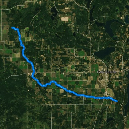 Fly fishing map for Straight River, Minnesota