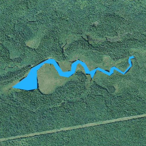 Fly fishing map for Stratton Brook Pond, Maine