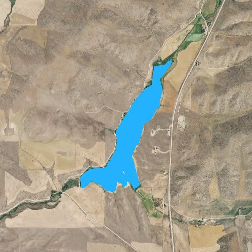 Fly fishing map for Strongarm Reservoir Number One, Idaho