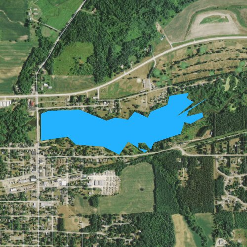 Fly fishing map for Strum Lake, Wisconsin