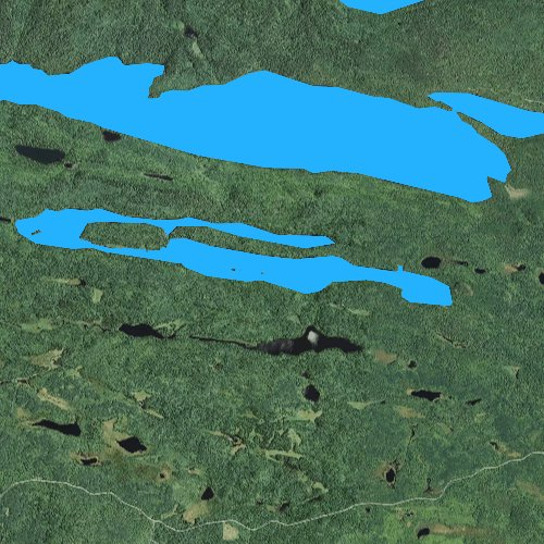 Fly fishing map for Stump Lake, Minnesota