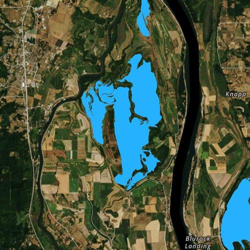 Fly fishing map for Sturgeon Lake, Oregon