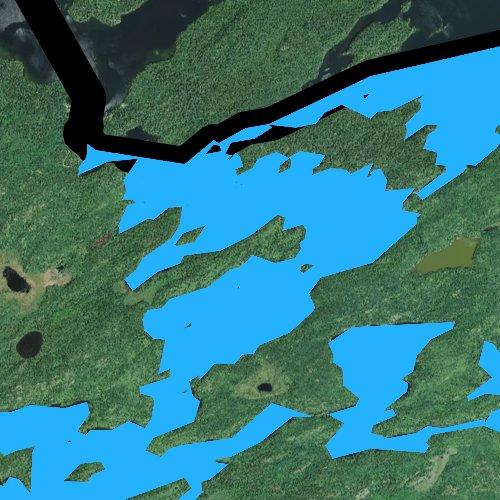 Fly fishing map for Sucker Lake, Minnesota