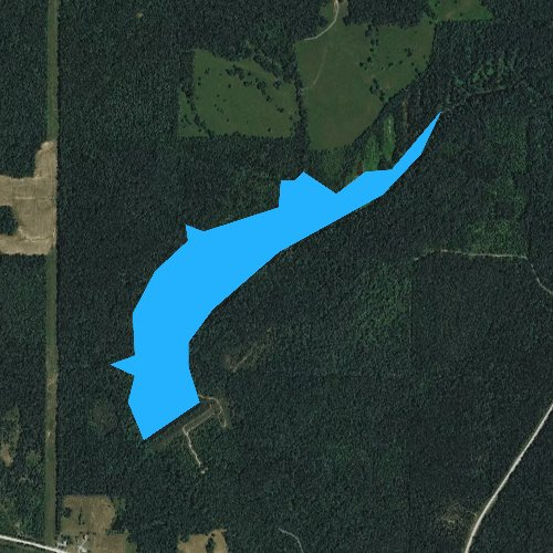 Fly fishing map for Sugar Creek Lake, Illinois
