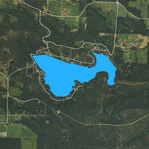 Fly fishing map for Sugar Loaf Lake, Arkansas