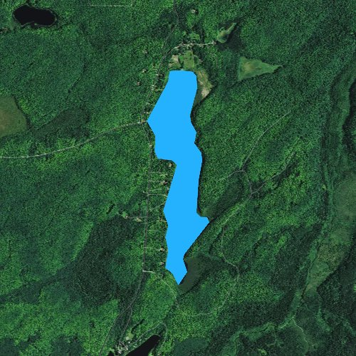 Fly fishing map for Sugar Maple Lake, Wisconsin