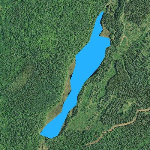 Fly fishing map for Sullivan Lake, Minnesota