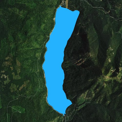 Fly fishing map for Sullivan Lake, Washington
